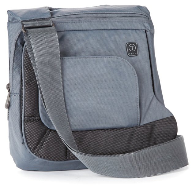 T-Tech Flap Crossbody, Pewter