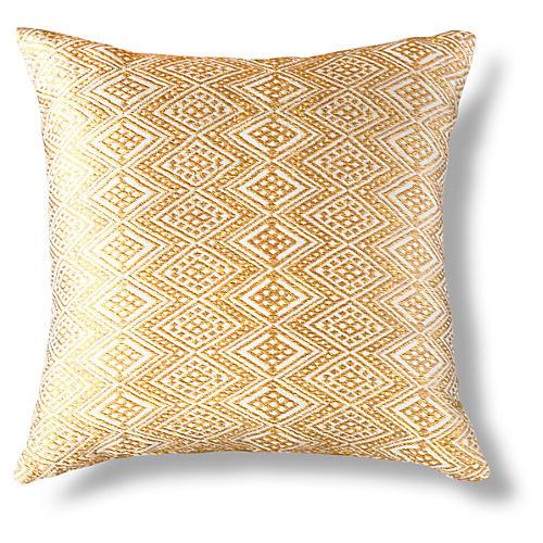 Qertz 18x18 Pillow, Gold