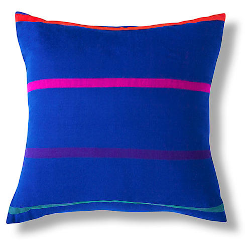 Karati 18x18 Pillow, Cobalt