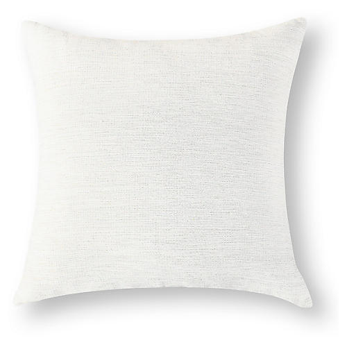 Nigist 18x18 Cotton Pillow, Silver