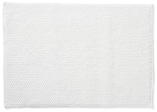 Double Face Bath Rug, White