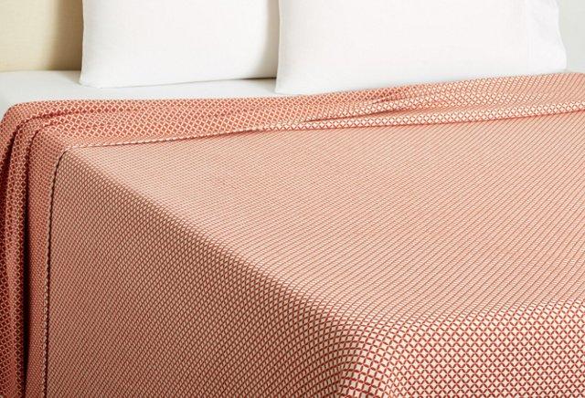 Queen Tile Blanket, Cinnabar