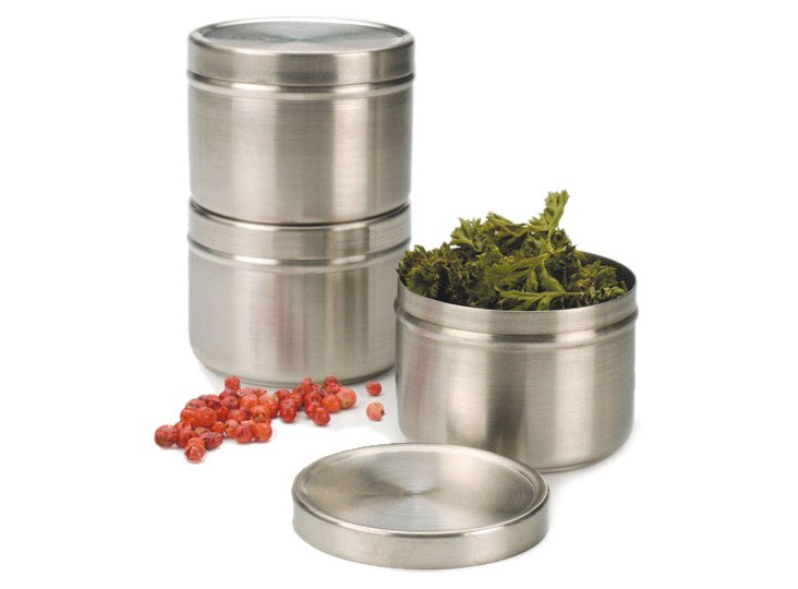 S/6 Endurance Stackable Spice Cans
