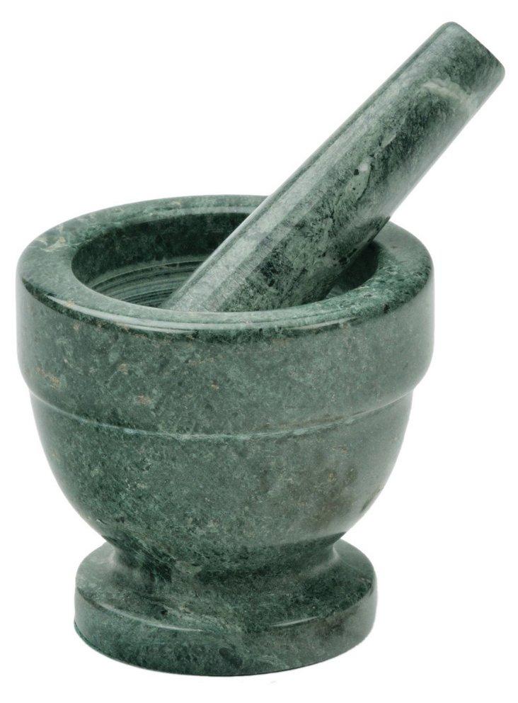 Marble Mortar & Pestle, Green