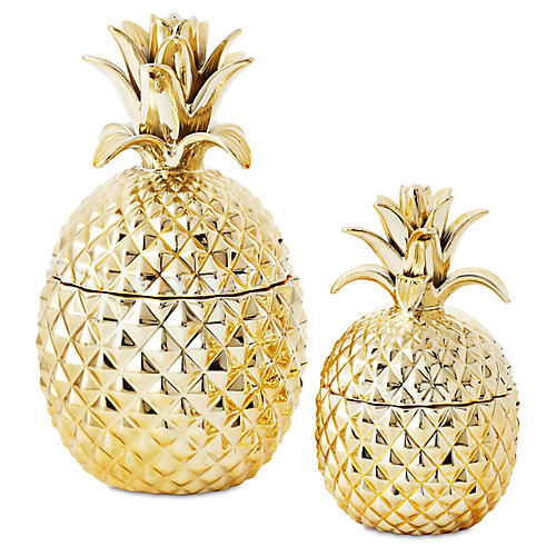 Asst. of 2 Pineapple Jars, Gold