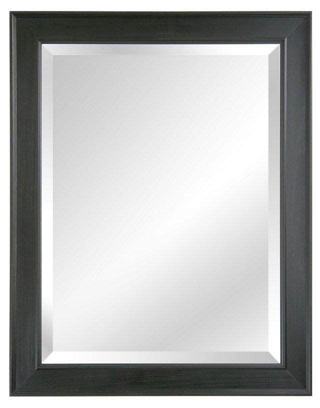 Alessandra Wall Mirror, Black Gloss