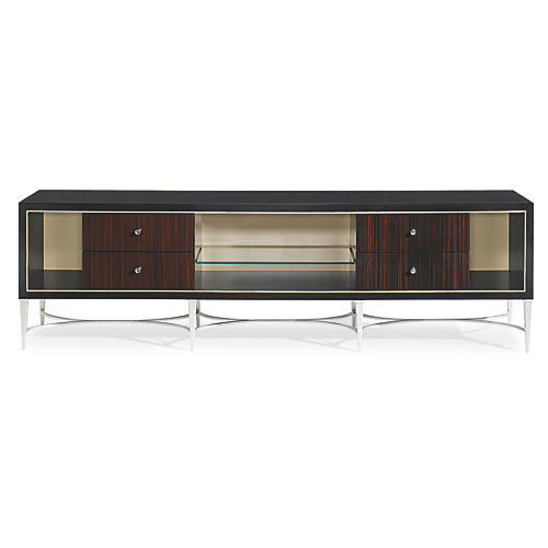 "Arsenio 80"" Media Cabinet, Black"