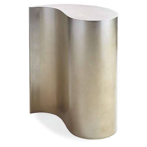 Clara Side Table, Warm Silver