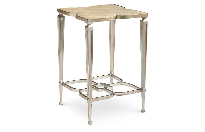 Charm Side Table - Taupe - Caracole