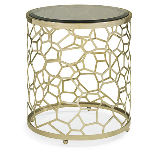 Sebastian Side Table, Gold Bullion