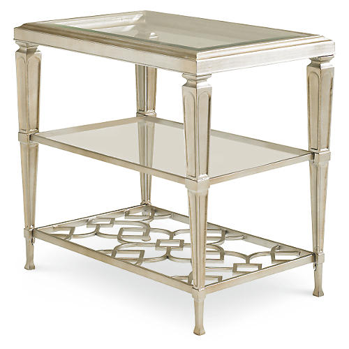 Social Side Table, Silver