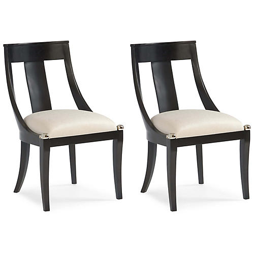 Carte Blanche Side Chair, Ivory