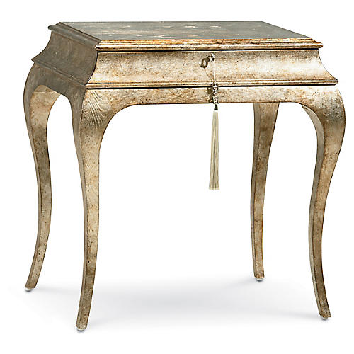 Henry Side Table, Silver/Gold
