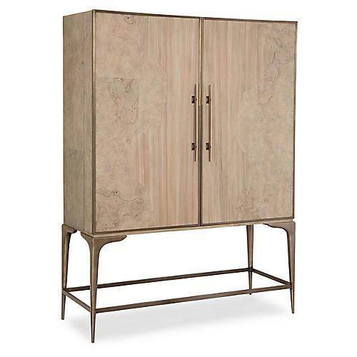 Top-Shelf Bar Cabinet, Olive Ash