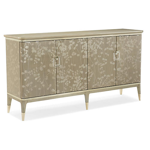 New Leaf Sideboard, Pale Gray