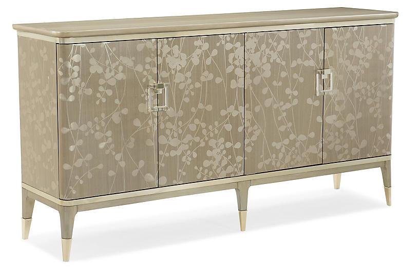 New Leaf Sideboard, Pale Gray