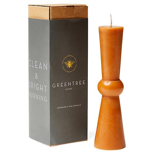 Josee Tall Pillar Candle, Terracotta