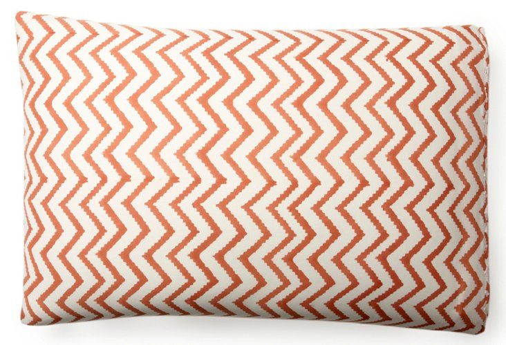 S/2 Printed Pillowcases, Coral