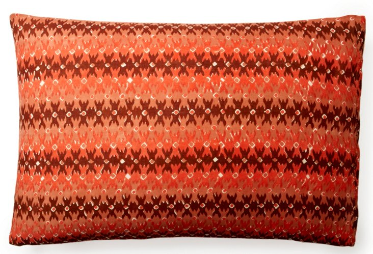 S/2 Printed Pillowcases, Red/Brown