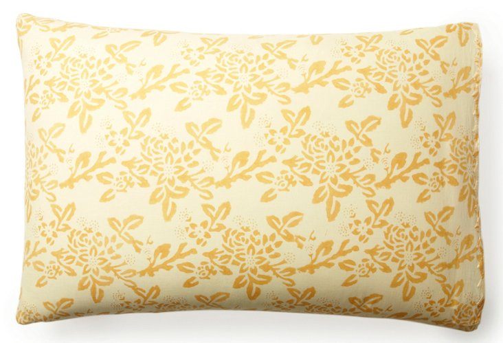 Hawaii Pillow Case, Gold