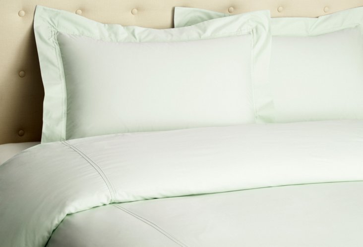 500TC Percale Duvet Set, Celadon