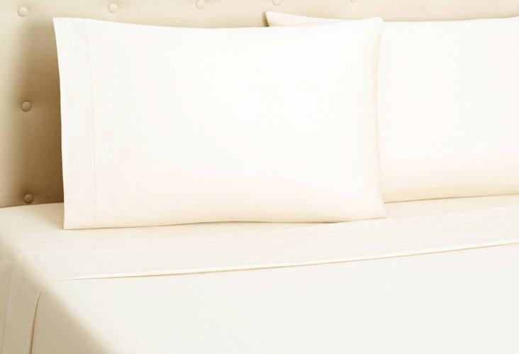 Percale Sheet Set, Ivory