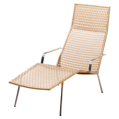 Straw Chaise, Natural