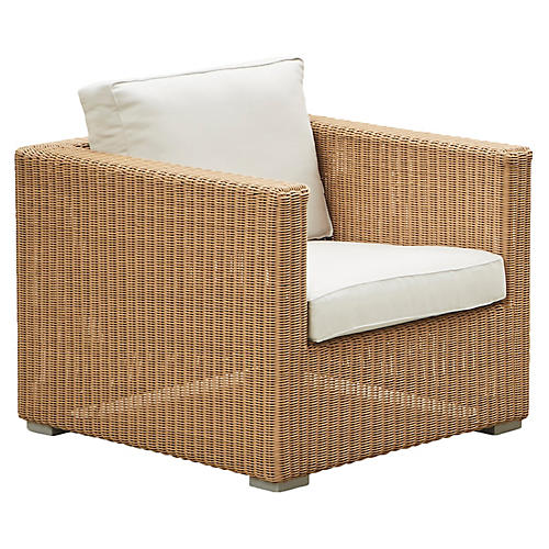 Chester Club Chair, White