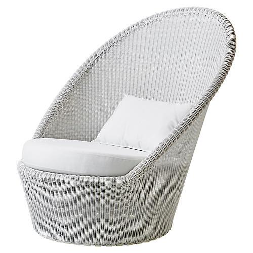 Kingston Lounge Chair, White