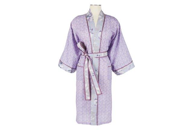 Cotton Wrap Kimono  Spring Mini Orchid