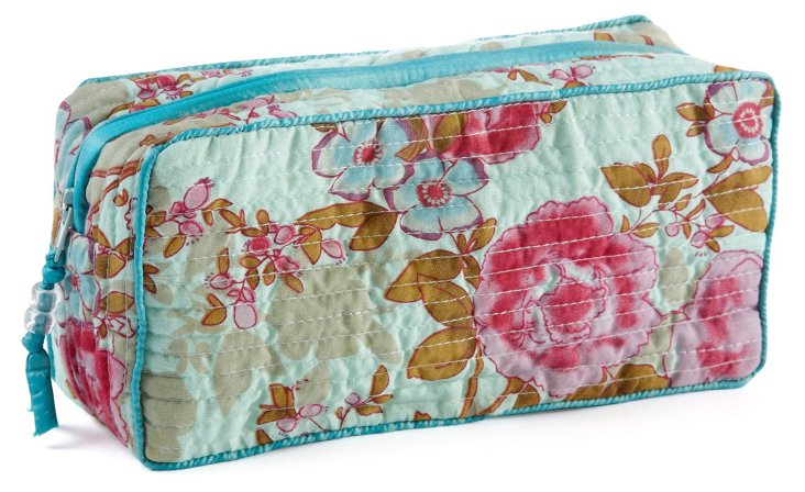 Clutch Make Up Bag, Blue Beautiful