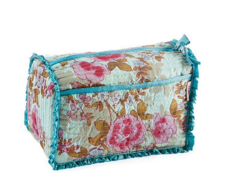 Overnight Washbag, Blue Beautiful