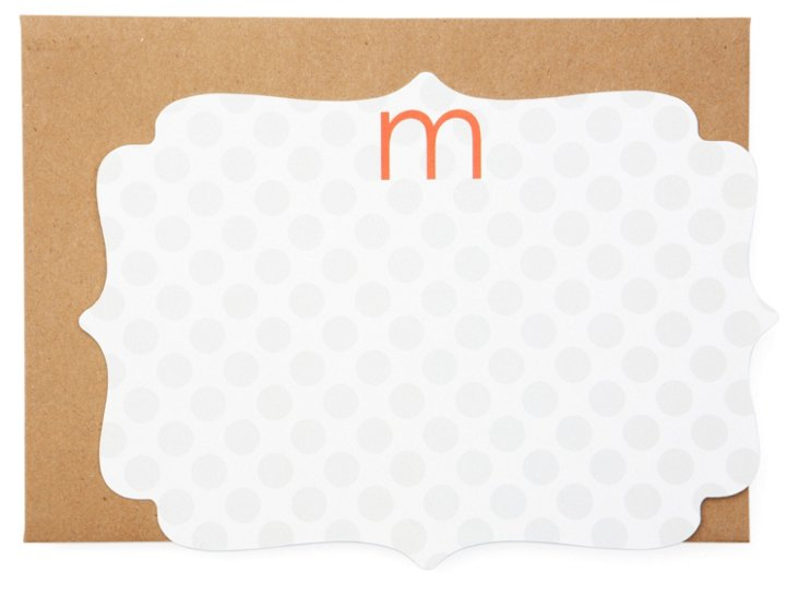 S/20 Cards, Grey Dot Initial A