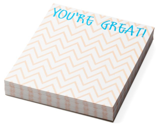"""S/2 Mini Notepads, """"You're Great"""""""