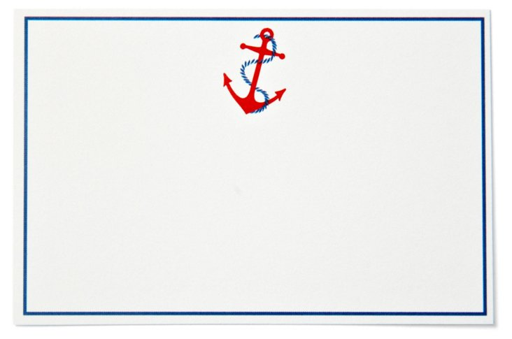S/40 Anchor Place Cards, Red