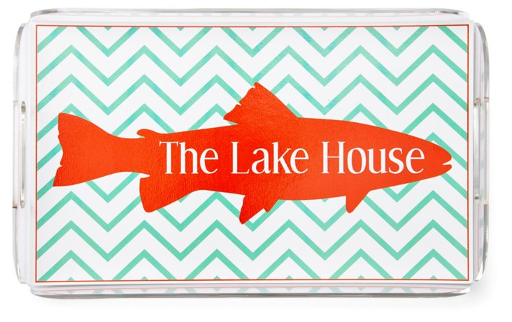Lucite Serving Tray, The Lake House