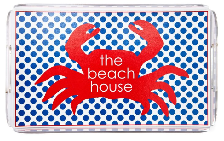 Lucite Serving Tray, The Beach House