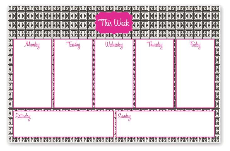 """Desk Pad Weekly Planner, """"This Week"""""""