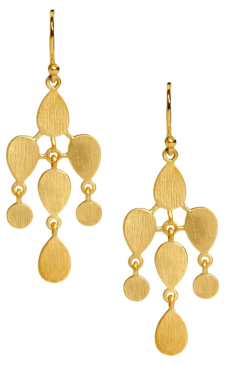 18K Gold Gemma Earrings