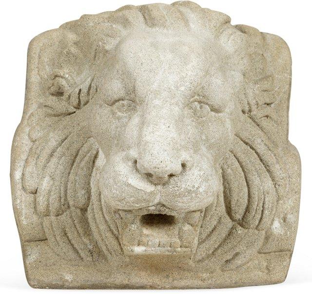 Cast Stone Lion Fountain Head