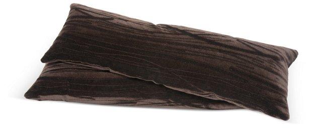 Mohair Lumbar Pillows, Pair
