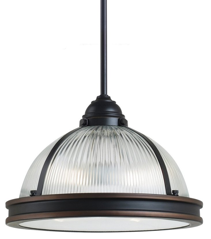 Pratt 2-Light Pendant, Bronze