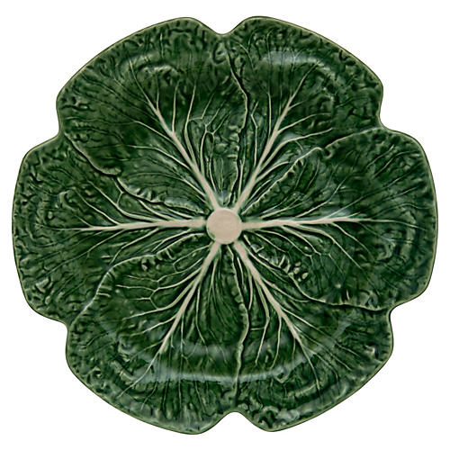 Cabbage Charger Plate, Green