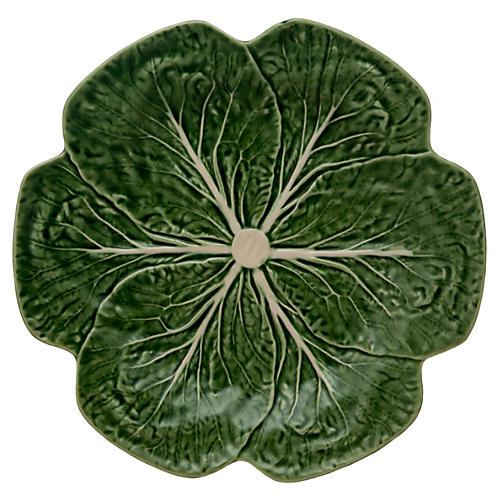 Cabbage Dinner Plate, Green