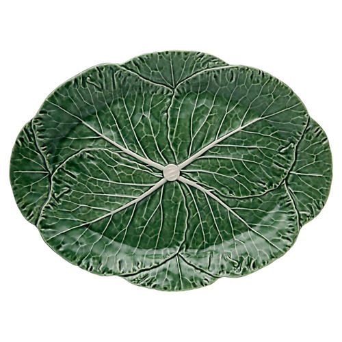 Cabbage Oval Platter, Green