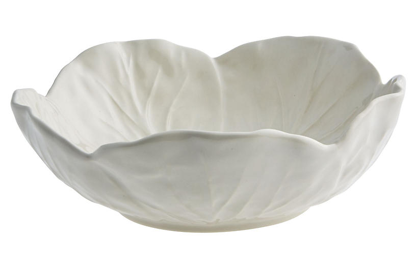Cabbage Cereal Bowl, Beige