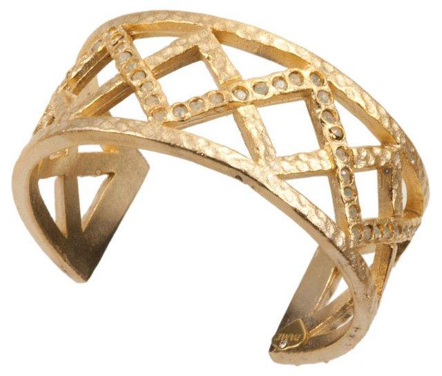 Gold-Plated Triangle Cuff
