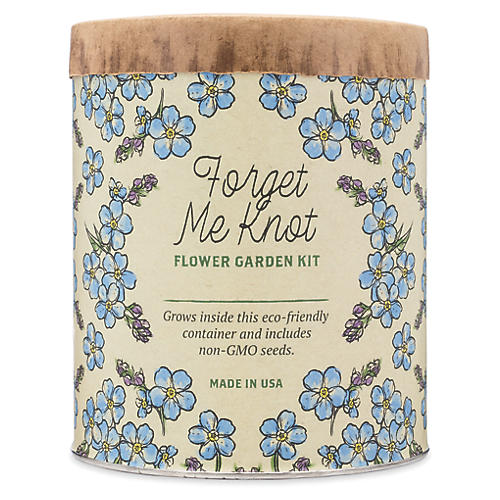 Waxed Planter Grow Kit, Forget-Me-Knots