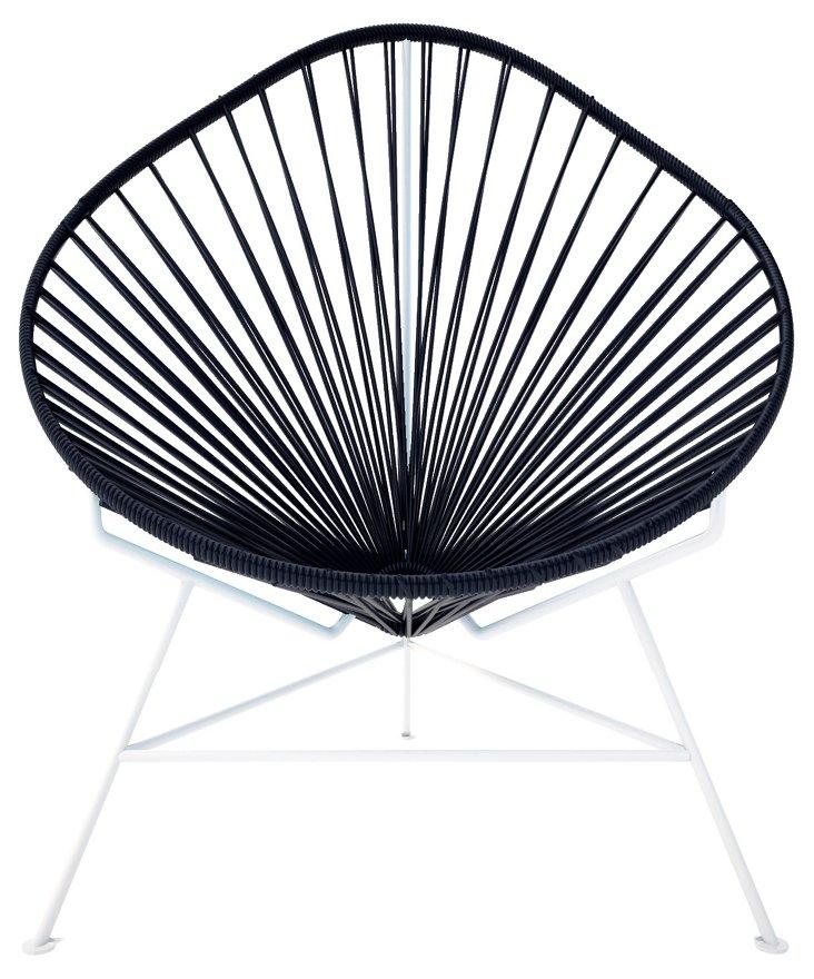 Acapulco Chair, White/Black