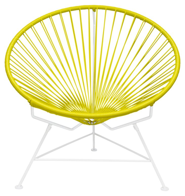 Innit Chair, White/Yellow